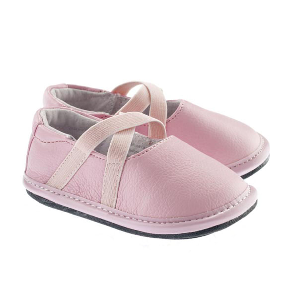 baby infant or toddler pink ballet shoes shoes